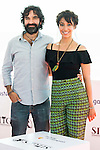 "Spanish director Mateo Gil and spanish actress Oona Chaplin attends to a photocall during the presentation of the film ""Proyecto Lazaro"" at the Festival de Cine Fantastico de Sitges in Barcelona. October 07, Spain. 2016. (ALTERPHOTOS/BorjaB.Hojas)"