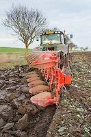 Ploughing dutch white cabbage land ready for drilling winter wheat - Lincolshire, November; front cover