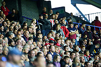 Lincoln City fans watch their team in action<br /> <br /> Photographer Andrew Vaughan/CameraSport<br /> <br /> The Carabao Cup First Round - Huddersfield Town v Lincoln City - Tuesday 13th August 2019 - John Smith's Stadium - Huddersfield<br />  <br /> World Copyright © 2019 CameraSport. All rights reserved. 43 Linden Ave. Countesthorpe. Leicester. England. LE8 5PG - Tel: +44 (0) 116 277 4147 - admin@camerasport.com - www.camerasport.com