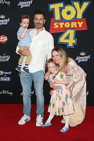 "HOLLYWOOD, CA - JUNE 11: Jimmy Kimmel, William Kimmel, Jane Kimmel, Molly McNearney, at The Premiere Of Disney And Pixar's ""Toy Story 4"" at El Capitan theatre in Hollywood, California on June 11, 2019. <br /> CAP/MPIFS<br /> ©MPIFS/Capital Pictures"