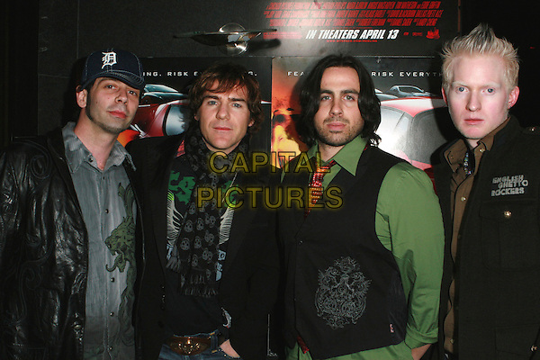 "MIG AYESA'S BAND.Redline Premiere Party, ""Myspace For Myfriends"" held at Aura Nightclub, Studio City, California, USA.  .April 18th, 2007.half length black leather jacket blue Miguel Alfonso Ramon Legarda green.CAP/ADM/CH.©Charles Harris/AdMedia/Capital Pictures"