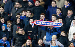 Rangers fans celebrating Billy King's goal