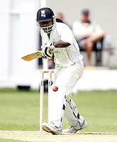 Jaron Semper bats for North Middlesex during the Middlesex County League Division two game between North Middlesex and Hornsey at Park Road, Crouch End on Sat July 9, 2011