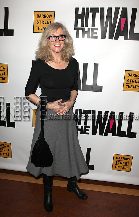 Blythe Danner attending the New York Premiere of the Opening Night Performance of 'Hit The Wall' at the Barrow Street Theatre  in New York City on 3/10/2013