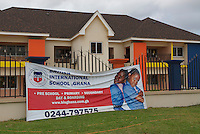 Private international schools cluster in the upmarket outer suburb of East Legon.