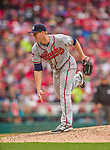 4 April 2014: Atlanta Braves pitcher Gus Schlosser on the mound during the Washington Nationals Home Opening Game at Nationals Park in Washington, DC. The Braves edged out the Nationals 2-1 in their first meeting of the 2014 MLB season. Mandatory Credit: Ed Wolfstein Photo *** RAW (NEF) Image File Available ***
