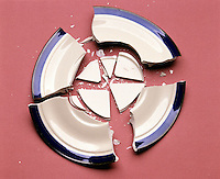 ENTROPY: A BROKEN PLATE<br /> Demonstrating The Second Law Of Thermodynamics<br /> The only changes that are possible for an isolated system are those in which the entropy of the system either increases or remains the same. The broken plate will not pull itself back together.