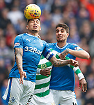 11.3.2018 Rangers v Celtic:<br /> James Tavernier, Moussa Dembele and Fabio Cardoso