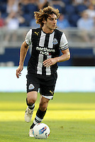Newcastle United defender Fabricio Coloccini in action... Sporting Kansas City and Newcastle United played to a 0-0 tie in an international friendly at LIVESTRONG Sporting Park, Kansas City, Kansas.