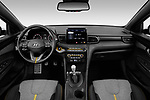 Stock photo of straight dashboard view of 2019 Hyundai Veloster R-Spec 2 Door Coupe Dashboard