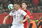 12.01.2018, BayArena, Leverkusen , GER, 1.FBL., Bayer 04 Leverkusen vs. FC Bayern M&uuml;nchen<br /> im Bild / picture shows: <br /> Niklas S&uuml;le / Suele (Bayern Muenchen #4), im Zweikampf gegen  Kai Havertz (Leverkusen #29),  <br /> <br /> <br /> Foto &copy; nordphoto / Meuter