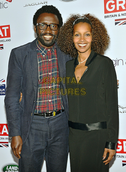 28 February 2014 - Los Angeles, California - Lenore Thomas and Tony Okungbowa. GREAT British Film Reception to honor the British Oscar nominees, hosted by Consul General Chris O'Connor at the British Residence. <br /> CAP/ADM/CC<br /> &copy;CC/AdMedia/Capital Pictures