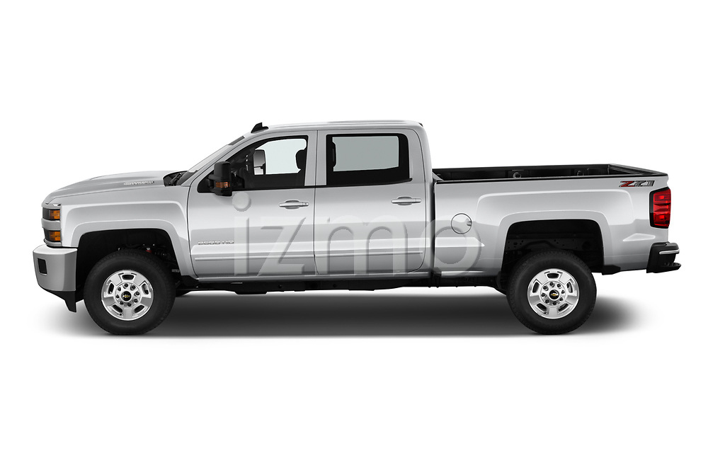 Car Driver side profile view of a 2019 Chevrolet Silverado-2500 LT 4 Door Pick-up Side View