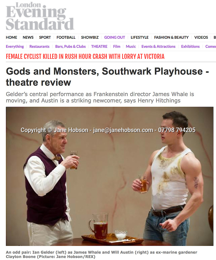 Gods and Monsters, Southwark, 19.02.15