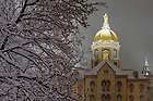 December 11, 2016; Main Building during snowfall (Photo by Matt Cashore/University of Notre Dame)