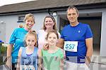 Bernice O'Sullivan, Rachel O'Sullivan, Danielle Wharton, Denise Wharton, John O'Sullivan  at the Banna 10k Run on Sunday