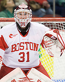 Kieran Millan (BU - 31) - The Boston University Terriers defeated the visiting Harvard University Crimson 5-2 on Saturday, January 15, 2011, at Agganis Arena in Boston, Massachusetts.