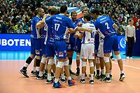 GRONINGEN - Volleybal, Abiant Lycurgus - Luboteni, voorronde Champions League, seizoen 2017-2018, 26-10-2017, Lycurgus maakt zich klaar voor de wedstrijd