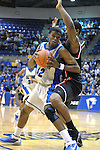 08 March 2008:   Air Force guard, Anwar Johnson (42), drives for the basket  during the Falcon's 46-43 Mountain West Conference victory over the San Diego State Aztecs at Clune Arena, U.S. Air Force Academy, Colorado Springs, Colorado.