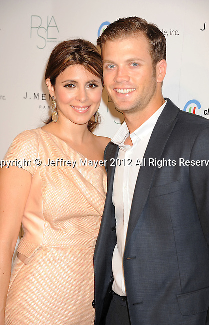 WEST HOLLYWOOD, CA - OCTOBER 17: Jamie-Lynn Sigler and Cutter Dykstra arrive at the 3rd Annual Autumn party at The London West Hollywood on October 17, 2012 in West Hollywood, California.