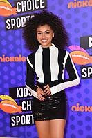 Daniella Perkins at the Nickelodeon Kids' Choice Sports Awards 2018 at Barker Hangar, Santa Monica, USA 19 July 2018<br /> Picture: Paul Smith/Featureflash/SilverHub 0208 004 5359 sales@silverhubmedia.com