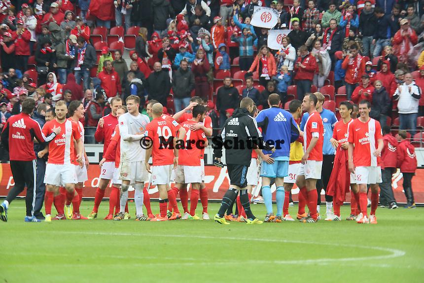 Jubel beim Mainz - 1. FSV Mainz 05 vs. Hamburger SV, Coface Arena, 34. Spieltag