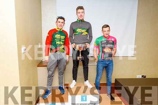 The honours in the A1 and A2 class at the Lacey Cup went to 1st Matthew Sparrow, 2nd place Conor Hennerbry and in 3rd place Conor Kissane of the Killarney Cycling Club<br /> Dan Morrissey-MIG-Pactimo