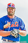 5 March 2015: New York Mets outfielder Kirk Nieuwenhuis awaits his turn in the batting cage prior to a Spring Training game against the Washington Nationals at Space Coast Stadium in Viera, Florida. The Mets fell to the Nationals after a late inning rally, dropping a 5-4 Grapefruit League game. Mandatory Credit: Ed Wolfstein Photo *** RAW (NEF) Image File Available ***