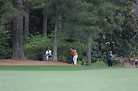 Rickie Fowler (USA) playing onto the 18th green during the final round at the The Masters , Augusta National, Augusta, Georgia, USA. 14/04/2019.<br /> Picture Fran Caffrey / Golffile.ie<br /> <br /> All photo usage must carry mandatory copyright credit (© Golffile | Fran Caffrey)