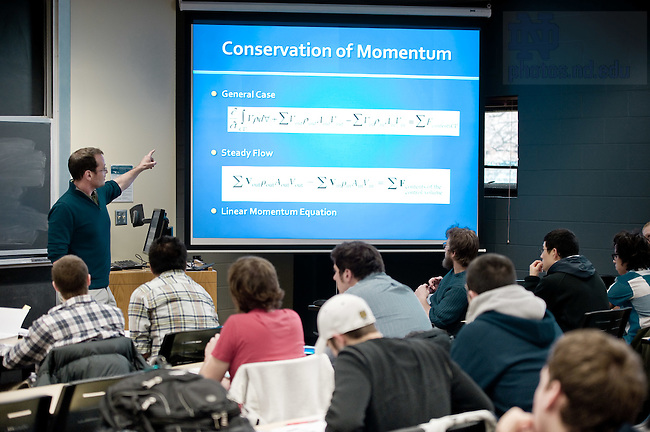 Feb. 22, 2012; Undergraduate engineering course..Photo by Matt Cashore/University of Notre Dame