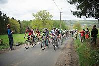 peloton up the Cote de Stockeu (aka 'Stèle Eddy Merckx')<br /> <br /> Liège-Bastogne-Liège 2014