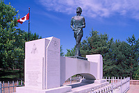 "Terry Fox Statue at ""Terry Fox Scenic Lookout"", along ""Terry Fox Courage Highway"" (Trans Canada Highway / Hwy 17), near Thunder Bay, Ontario, Canada (Sculptor: Manfred Pirwitz, 1982)"