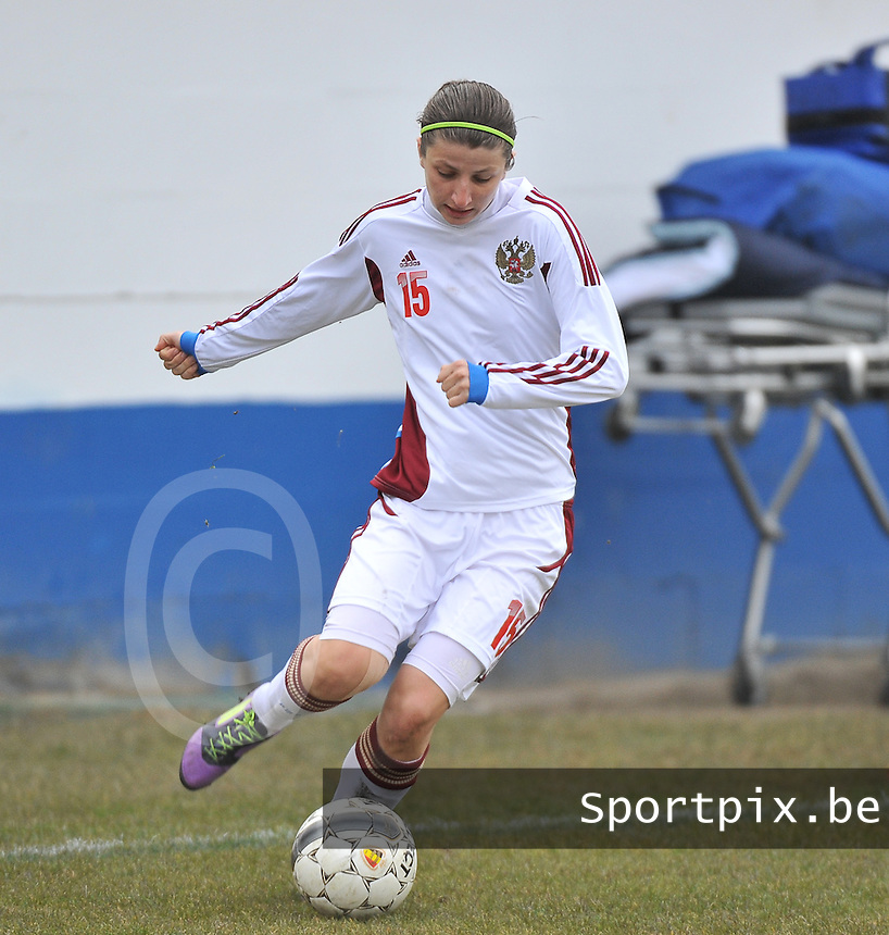 France U19 - Russia U19 : Elina Samoilova.foto DAVID CATRY / Nikonpro.be