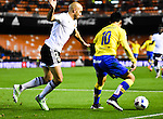 Valencia CF's Aymen Abdennour  and UD Las Palmas' Araujo during spanish King's Cup match. January 21, 2016. (ALTERPHOTOS/Javier Comos)