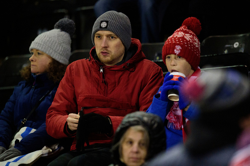 Lincoln City fans enjoy the pre-match atmosphere<br /> <br /> Photographer Andrew Vaughan/CameraSport<br /> <br /> The EFL Sky Bet League One - Lincoln City v Milton Keynes Dons - Tuesday 11th February 2020 - LNER Stadium - Lincoln<br /> <br /> World Copyright © 2020 CameraSport. All rights reserved. 43 Linden Ave. Countesthorpe. Leicester. England. LE8 5PG - Tel: +44 (0) 116 277 4147 - admin@camerasport.com - www.camerasport.com