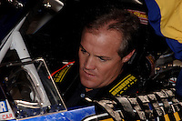Nov 13, 2005; Phoenix, Ariz, USA;  Nascar driver Kenny Wallace gets fitted in the seat of the #97 Irwin Ford of Jack Roush Racing after 2004 Nextel Cup Champion Kurt Busch was pulled from the car for the remainder of the season after being arrested for wreckless driving Friday night in nearby Avondale, Ariz. Wallace was notified hours before the race that he would be driving in the Checker Auto Parts 500 at Phoenix International Raceway. Mandatory Credit: Photo By Mark J. Rebilas