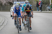 Yves Lampaert (BEL/QuickStep Floors) leading the race leaders down the  Tiegemberg<br /> <br /> 72nd Dwars Door Vlaanderen (1.UWT)<br /> 1day race: Roeselare &rsaquo; Waregem BEL (203.4km)