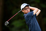 En Qi Liang of China in action during the 9th Faldo Series Asia Grand Final 2014 golf tournament on March 19, 2015 at Faldo course in Mid Valley clubhouse in Shenzhen, China. Photo by Xaume Olleros / Power Sport Images