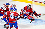 10 February 2010: Montreal Canadiens' goaltender Carey Price gives up a first period goal to center Brooks Laich the Washington Capitals at the Bell Centre in Montreal, Quebec, Canada. The Canadiens defeated the Capitals 6-5 in sudden death overtime, ending Washington's team-record winning streak at 14 games. Mandatory Credit: Ed Wolfstein Photo