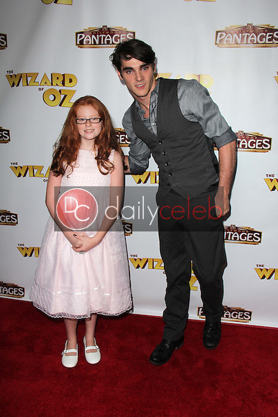 """RJ Mitte and sister<br /> at """"The Wizard Of Oz"""" Los Angeles Premiere, Pantages Theater, Hollywood, CA 09-18-13<br /> David Edwards/DailyCeleb.Com 818-249-4998"""