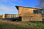 Construction of wood cladded buildings at Riduna park, Suffolk Coastal council, Melton, Suffolk, England