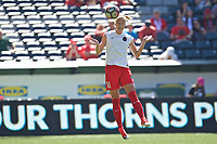 Portland, OR - Saturday August 05, 2017: Dagný Brynjarsdóttir during warmups before a regular season National Women's Soccer League (NWSL) match between the Portland Thorns FC and the Houston Dash at Providence Park.