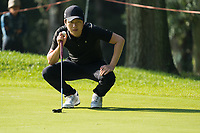 Jeunghun Wang (KOR) in action on the 1st hole during the third round of the 76 Open D'Italia, Olgiata Golf Club, Rome, Rome, Italy. 12/10/19.<br /> Picture Stefano Di Maria / Golffile.ie<br /> <br /> All photo usage must carry mandatory copyright credit (© Golffile | Stefano Di Maria)
