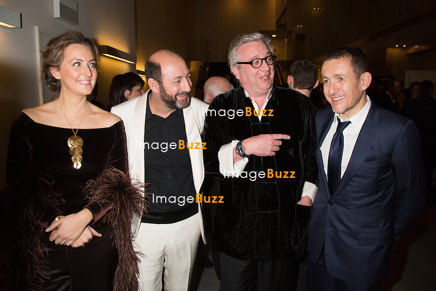 Princesse Claire de Belgique, Kad Merad, Prince Laurent de Belgique &amp; Dany Boon - Sixi&egrave;me c&eacute;r&eacute;monie des Magritte du cin&eacute;ma, qui r&eacute;compensent le septi&egrave;me art belge, au Square, &agrave; Bruxelles.<br /> Belgique, Bruxelles, 6 f&eacute;vrier 2016.<br /> Sixth edition of the Magritte du Cinema awards in Brussels.<br /> Belgium, Brussels, 7 February 2016