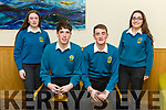At the Transition Year St Brendan's Tenth annual Parish Day at Ballyroe Heights Hotel on Tuesday were Mounthawk Students Patricia Cronin, Oliver Hart, Stephan Bowler and Amy Hartnett