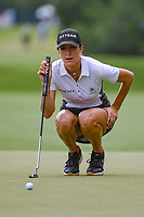 Jaye Marie Green (USA) lines up her birdie putt on 4 during round 3 of the 2019 US Women's Open, Charleston Country Club, Charleston, South Carolina,  USA. 6/1/2019.<br /> Picture: Golffile | Ken Murray<br /> <br /> All photo usage must carry mandatory copyright credit (© Golffile | Ken Murray)