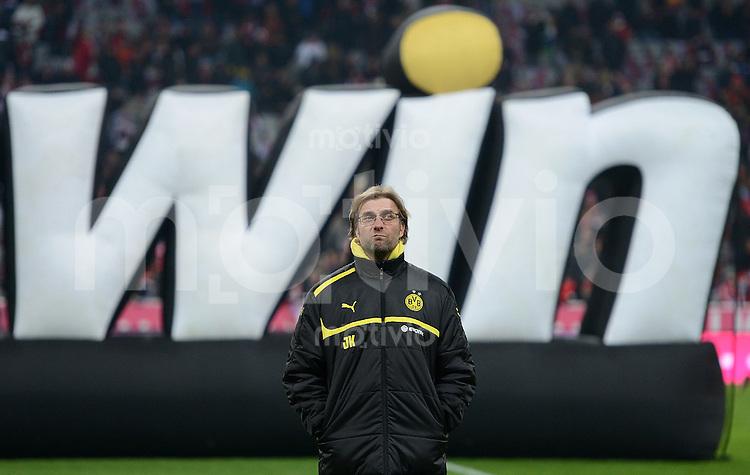 FUSSBALL   1. BUNDESLIGA  SAISON 2012/2013   15. Spieltag FC Bayern Muenchen - Borussia Dortmund     01.12.2012 Trainer Juergen Klopp (Borussia Dortmund)