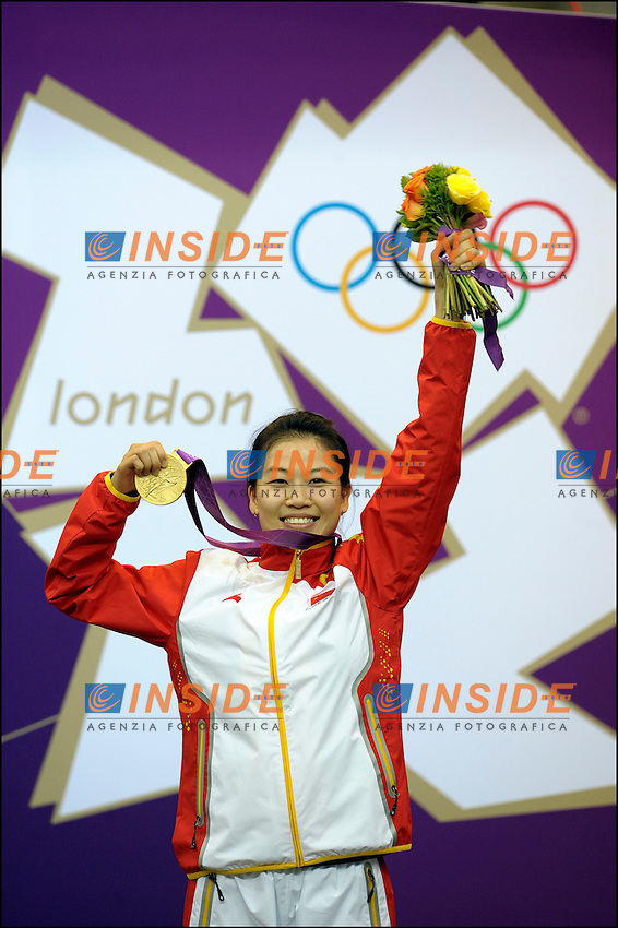 Siling YI (chn) - podium - medaille d Or .Olimpiadi Londra 2012.London 2012 Olympic Games.foto Insidefoto - Italy ONLY