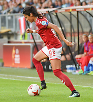 20170803 - BREDA , NETHERLANDS : Danish Nadia Nadim  pictured during the female soccer game between Denmark and Austria  , the semi final at the Women's Euro 2017 , European Championship in The Netherlands 2017 , Thursday 3th of August 2017 at Stadion Rat Verlegh in Breda , The Netherlands PHOTO SPORTPIX.BE | DIRK VUYLSTEKE