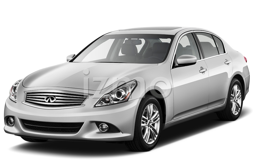 Front three quarter view of a 2011 Infiniti G25 Journey Sedan.